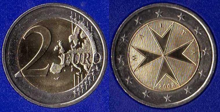 Malta 2 Euro 2008 - ....