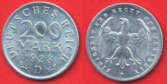 200 marchi repubblica di Weimar