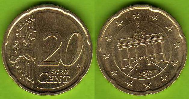 Germania 20 cent 2007 - ....
