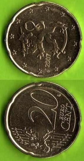 Finlandia 20 cent 2007 - ....