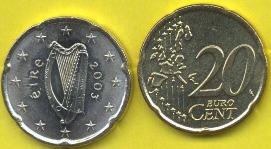 Irlanda 20 cent 2002 - 2006