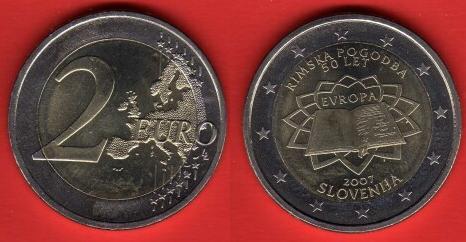Slovenia 2 Euro Commemorativa 2007