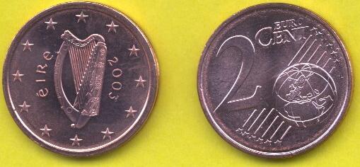 Irlanda 2 cent 2002 - ....