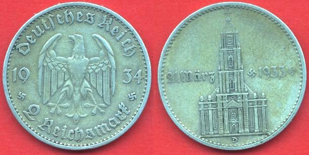2 Marchi Terzo Reich (1934)