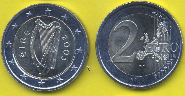 Irlanda 2 Euro 2002 - 2006