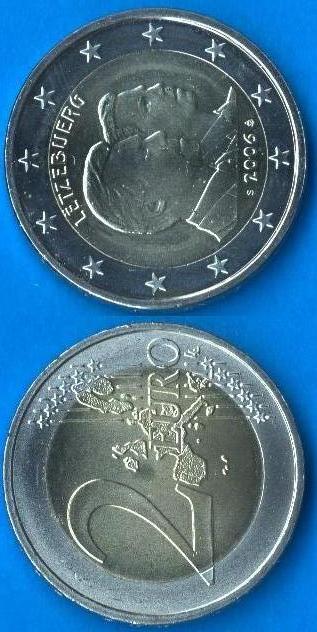 Lussemburgo 2 Euro commemorativo 2006