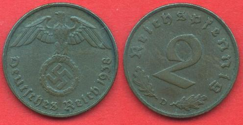 2 Pfennig Terzo Reich
