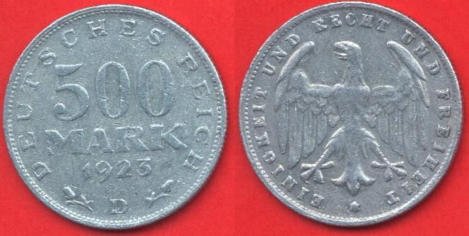500 marchi repubblica di Weimar
