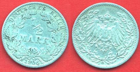 1/2 Marco Impero Tedesco (1905 -1919)