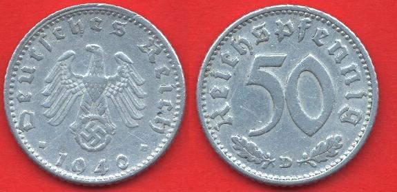 50 Pfennig Terzo reich (1939 - 1944)