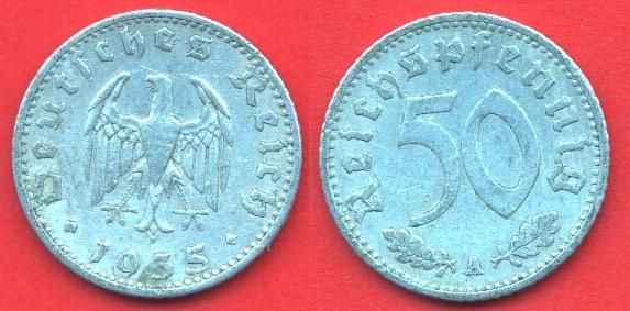50 Pfennig Terzo reich