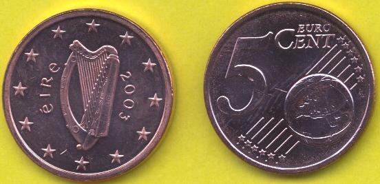 Irlanda 5 cent 2002 - ....