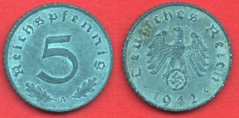 5 Pfennig Terzo Reich