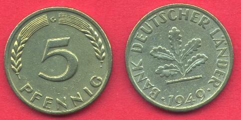 5 Pfennig Germania