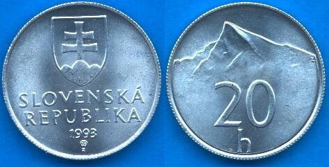 Repubblica Slovacca 20 Halierov 1993-....