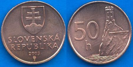 Repubblica Slovacca 50 Halierov 1993-....