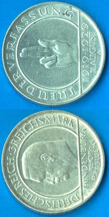 3 Marchi Repubblica di Weimar (1929)