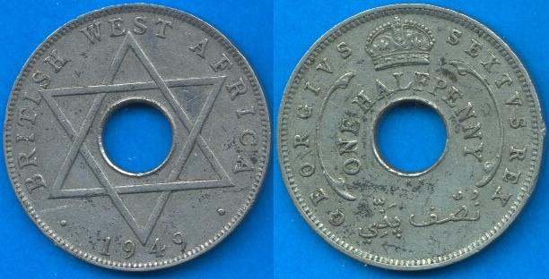 British west Africa ½ Penny 1949-1951