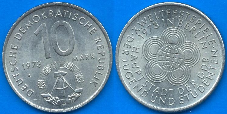 10 Marchi DDR 1973