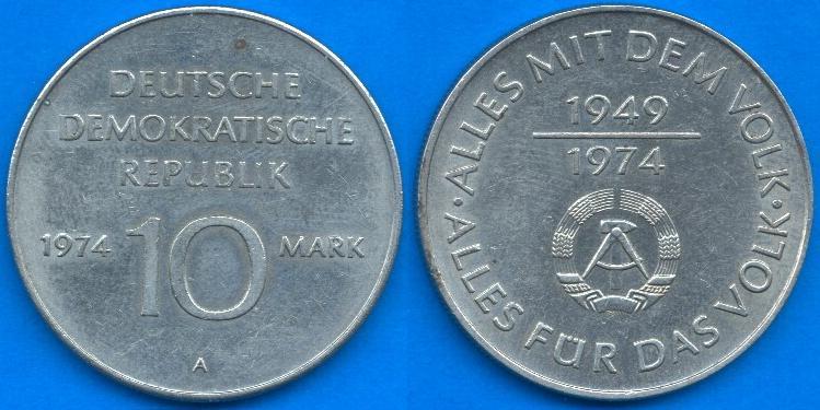 10 Marchi DDR 1974