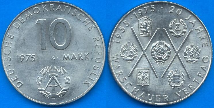 10 Marchi DDR 1975
