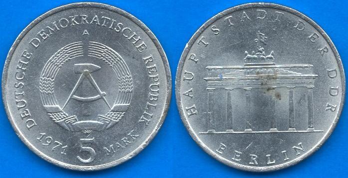 5 Marchi DDR (1971 - 1990)