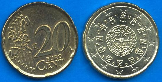 Portogallo 20 cent