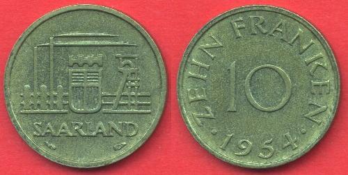 Saarland 10 Franken