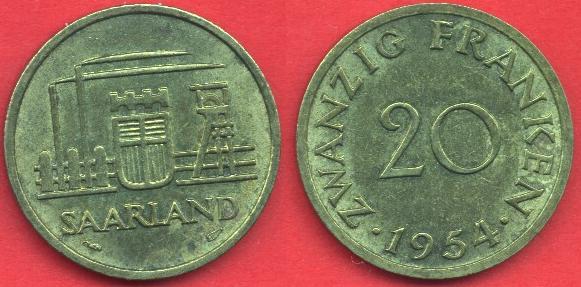 Saarland 20 Franken