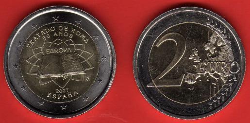 Spagna 2 Euro commemorativa 2007