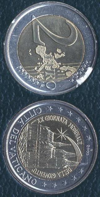 Vaticano 2 Euro commemorativo 2005