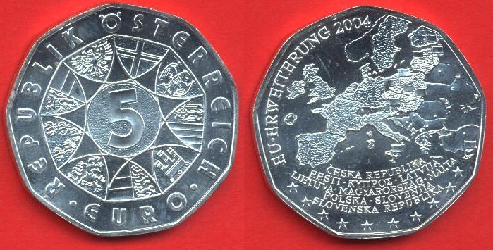 5 euro Argento 2004