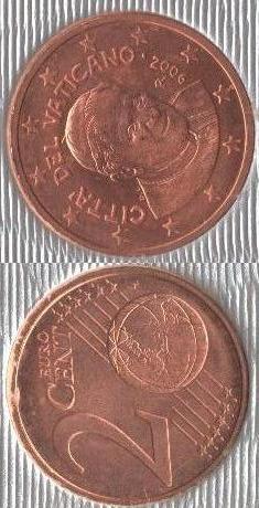 Vaticano 2 cent 2006 - ....