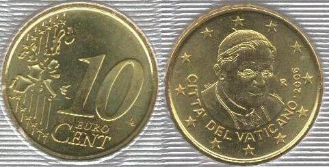 Vaticano 10 cent (2006 - ....)