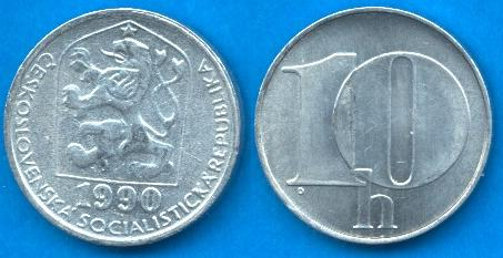 Repubblica Socialista Cecoslovacca (1960 - 1990) 10 Heller 1974 - 1990