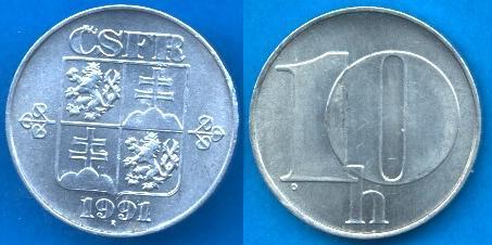 Repubblica Cecoslovacca (1990-1992) 10 Heller 1991-1992
