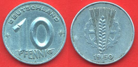 10 Pfennig DDR (1948 - 1950)