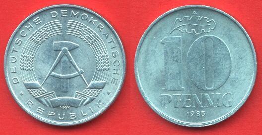 10 Pfennig DDR (1963 - 1990)