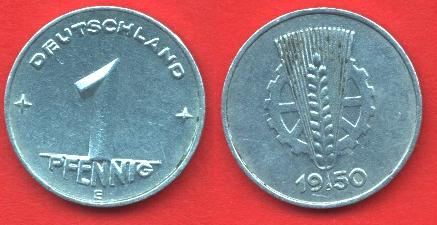 1 Pfennig DDR 1948-1950