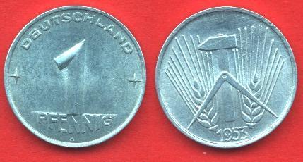 1 Pfennig DDR 1952-1953
