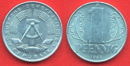 1 Pfennig DDR 1960 - 1990