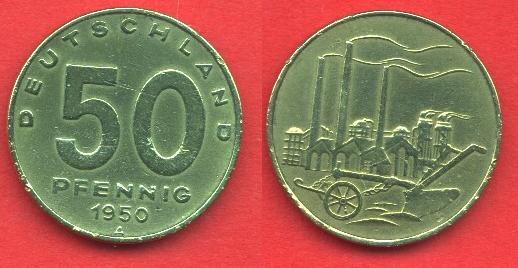 50 Pfennig DDR 1949 - 1950