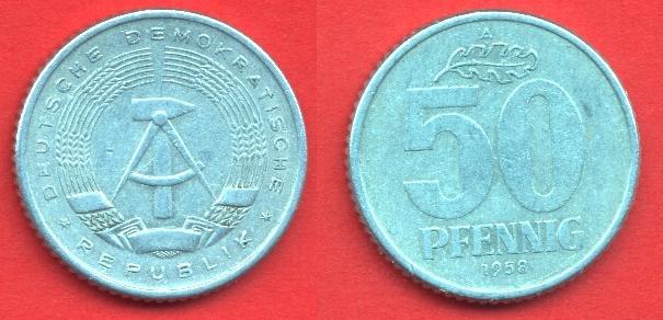 50 Pfennig DDR 1958 - 1990