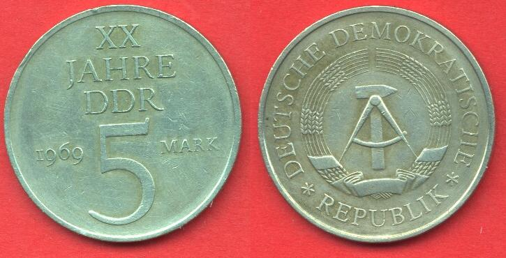5 marchi DDR 1969