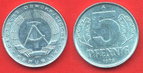 5 Pfennig DDR 1968 - 1990