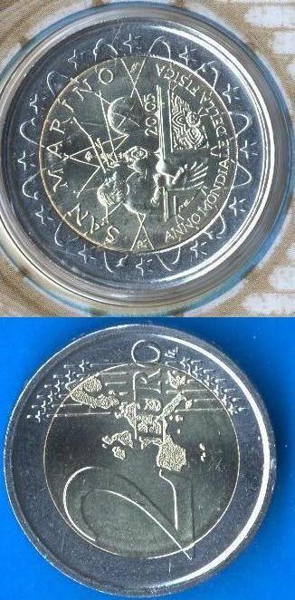 San Marino 2 Euro Commemortaivo 2005