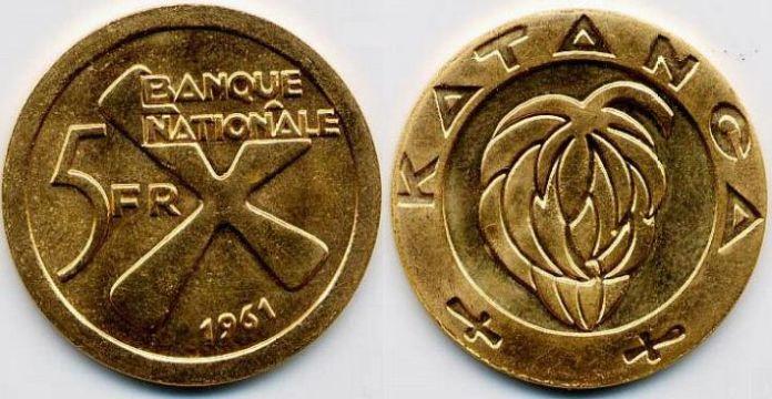 Katanga 5 franchi (oro)