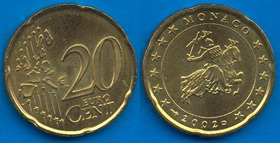 Principato di Monaco 20 cent