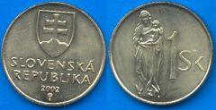Repubblica Slovacca 1 Koruna 1993-....