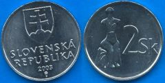 Repubblica Slovacca 2 Korun 1993-....